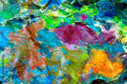 Fototapety, obrazy: Rag in oil paints
