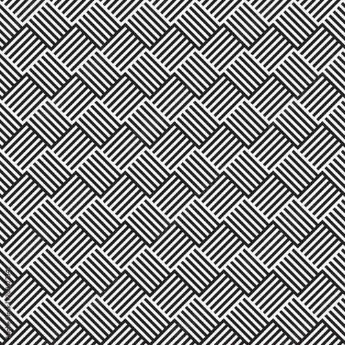 Valokuva  Seamless geometric abstract weave pattern background