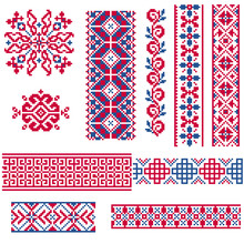 Ethnic Vector Seamless Patterns.