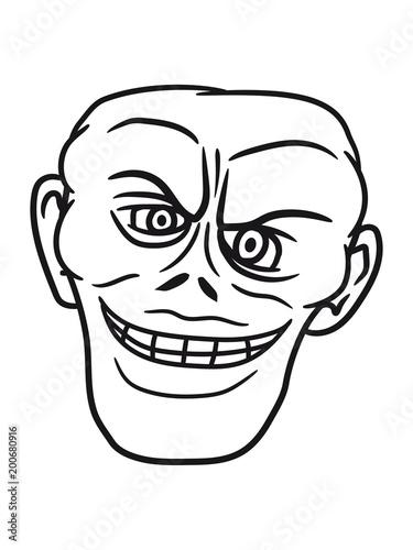 Kopf Gesicht Bse Mann Gemein Alien Gangster Verbrecher Cool Comic