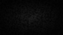 Abstract Dark Background Of Small Rings In Shades Of Black And Gray Colors.