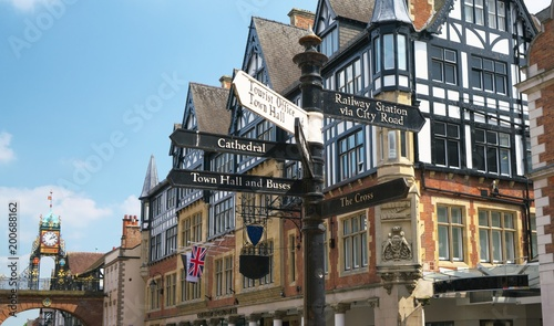 Fotografie, Obraz  Chester, UK-May 25,2017:One of the most photographed clock in England