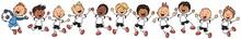 Jubelnde Fußballmannschaft - ...