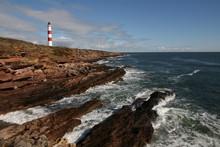 Coastline At Tarbat Ness Lighthouse, Scottish Highlands, Dornach Firth, Scotland