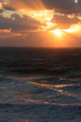 海に沈む夕日と光芒 The sunset and Angel's ladder