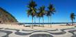 Geometric boardwalk in Copacabana Rio de Janeiro Brazil