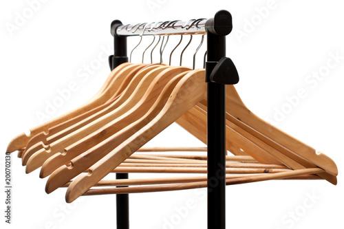 Valokuva  Coat  hangers on a clothes rack