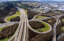 Aerial View Of A Highway Inter...