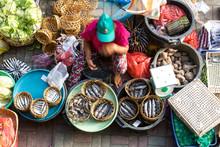 Fish Street Vendor Selling Fis...