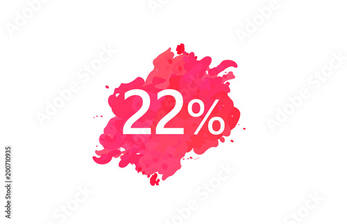 Poster  22 Percent Discount Water Color Design