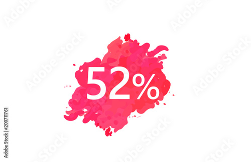 Poster  52 Percent Discount Water Color Design