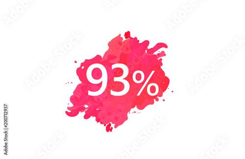 Fotografie, Obraz  93 Percent Discount Water Color Design