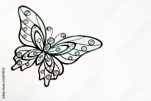 Black Butterfly On White Background Wallpaper Pattern Texture Buy This Stock Photo And Explore Similar Images At Adobe Stock Adobe Stock