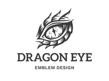 Vector Eye Of A Dragon Illustr...