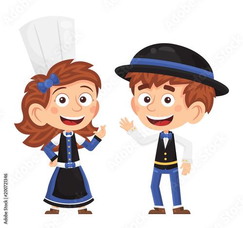 Fotomural Petit couple breton