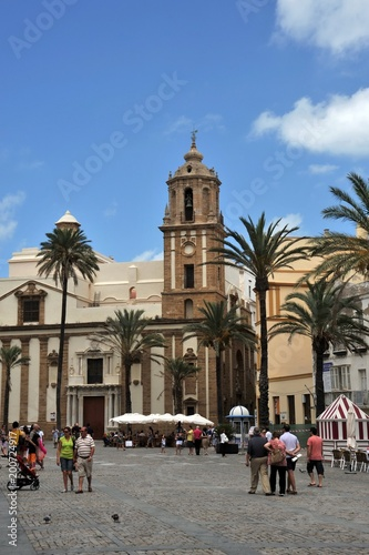 In de dag Madrid The square is in the center of the ancient sea city of Cadiz.