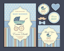 Baby Shower Boy, Invitation Card