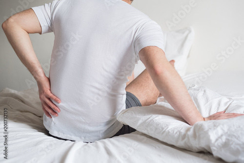 Fotografie, Obraz  Uncomfortable mattress and pillow causes neck pain