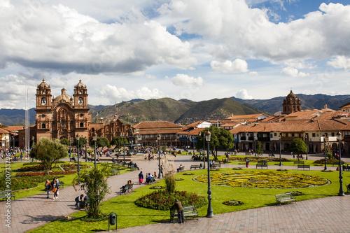 Arequipa, PERU - February 2, 2018 - Center of a town Fototapet