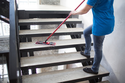Canvastavla  Cleaning service concept