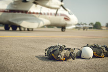 Parachute With Equipment For P...