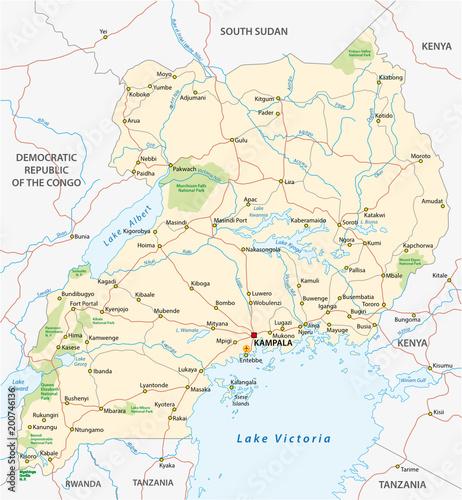 uganda vector road map - Buy this stock vector and explore similar on kenya counties list, kenya thematic map, kenya animals, kenya flag, kenya points of interest, limuru kenya map, kenya route map, kenya vegetation map, kenya tourist map, kenya africa map, kenya topographical map, kenya police map, kenya travel map, kenya map regions, kenya equator, kenya map detailed, kenya coast map, kenya country map, kenya town map,