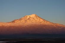 Sunset Over Mt. Ararat (5137 M), Eastern Turkey.