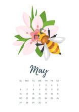 May 2018 Year Calendar Page