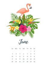June 2018 Year Calendar Page