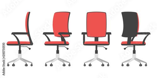 Obraz na plátně illustration of office chair