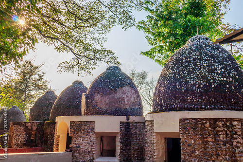 tourist place Beatles ashram in Rishikesh Canvas Print