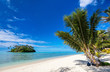 Beautiful tropical beach at exotic island in Pacific