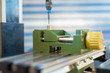 CNC milling machine processing plastic detail.Cutting plastic modern processing