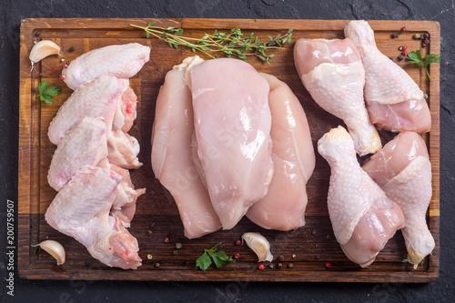 Fotobehang Kip Raw chicken meat