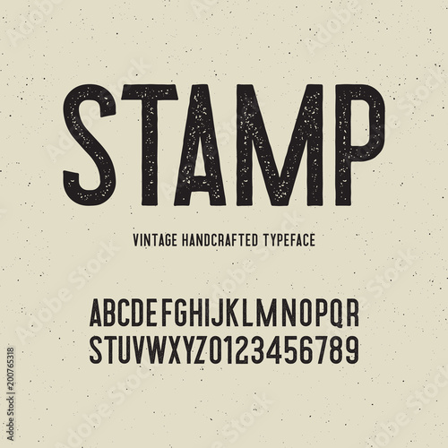 Fotografie, Tablou vintage handcrafted typeface with stamp effect