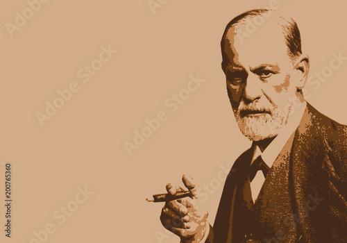 Freud - portrait - personnage célèbre - psy -psychiatre - psychanalyse - scienti Tablou Canvas