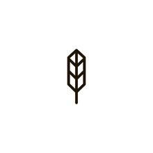 Wheat Icon. Sign Design