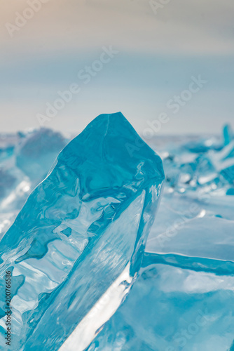 Fotobehang Midden Oosten Ice breaking from cave close up, winter season natural background and texture