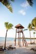 Beach life guard tower. Cancun