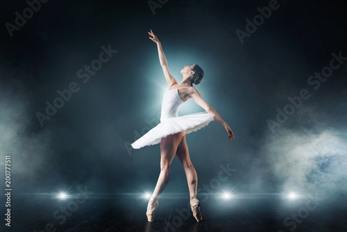 Fotografie, Tablou  Ballet dancer dancing on the stage in theatre