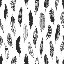 Feather Rustic Seamless Patter...
