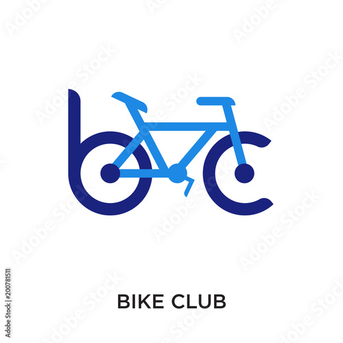 bike club logo isolated on white background for your web, mobile and app design Poster