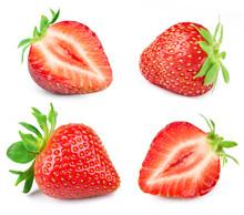 Strawberry Half Isolated