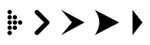 Set Arrow Icon. Different Blac...