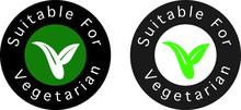 Suitable For Vegetarian Symbol...