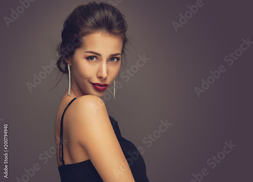 Fényképezés  Beautiful model girl with elegant hairstyle