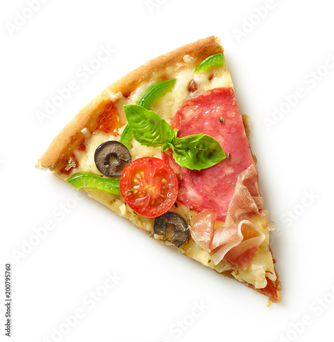 Deurstickers Kamperen Slice of pizza