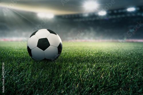 Staande foto Bol Fußball in einem Stadion