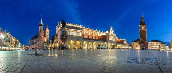 Fototapeta Kraków Old town market square of Krakow, Poland.