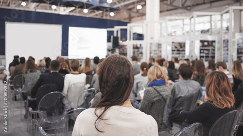Fotografie, Obraz  Business woman and people Listening on The Conference